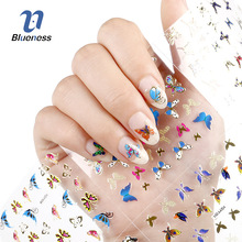 Nail Stickers 24 Sheets Moon Butterfly Animal Pattern For Stamping 3D Charms Bronzing Nail Art Decal Top Quality For Beauty Gift(China)