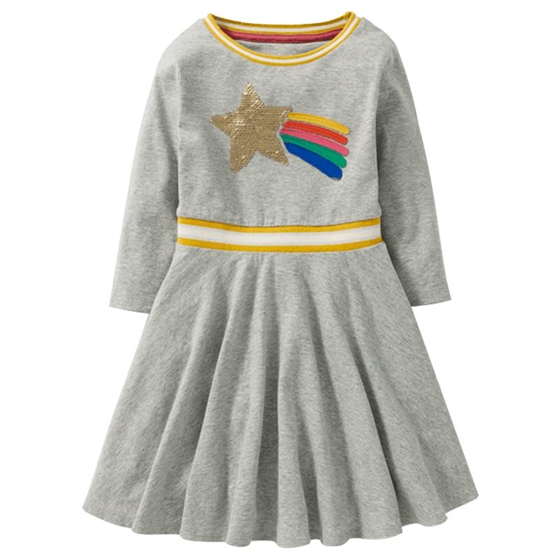 Girl Clothing Sequin Color-Change Girl Dresses Kids
