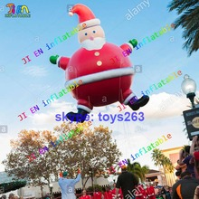 DDU free shipping helium inflatable santa claus parade inflatable cartoons amusement park parade inflatable Xmas santa claus(China)