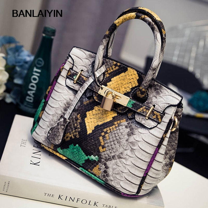 Alligator Women Tote Shopper Bag Lock Handbags Ladies Fashion Crossbody Shoulder Bags Girl Messenger Top-Handle Bolsas Feminina<br>