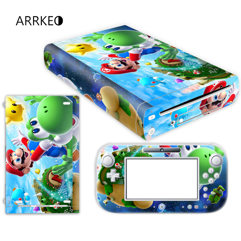 ARRKEO Super Mario Vinyl Cover Decal Skin Sticker for Nintendo Wii U Console & Controller Skins Stickers(China (Mainland))