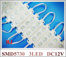 high quality high brightness injection LED module waterproof SMD 5730 LED advertising light module DC12V 1.44W 3 led IP66