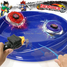 fidget spinner Metal Master Beyblade 4D Launcher Grip toy set,super-assembly 4 pcs Fight spinning top for boy gift classic toy(China)