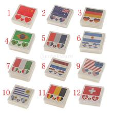 50 Pack Flag Stickers Euro Cup Football European Championship Cheer(China)