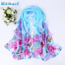 Womail Good Deal New Fashion Women Peony Pattern Long Stole Scarves Shawl Scarf Neck Shawl Gift 1PC