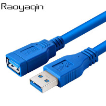 Raoyaqin USB 3.0 Extension Cable USB3.0 Cable Male to Female Data Sync Fast Speed Cord Connector for Laptop PC Printer Hard Disk