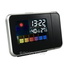 Hot Projection Weather LCD Digital Alarm Clock Color LED Backlight Digital Weather Display Projector Snooze Alarm Hours Clocks