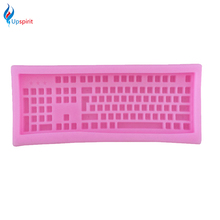 New Design 3D Silicone Mold Keyboard Shape Fondant Chocolate Candy Mould DIY Cake Decorating Baking Tools Kitchen Accessories(China)