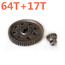 RC Car Parts 11184 Metal Diff.Main Gear 64T &11119 Motor Gears 17T RC Parts For 1/10 Scale Models HSP Truck Hobby Baja Himoto