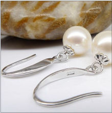 Real HOT AAA SOUTH SEA GENUINE 10-11 mm WHITE PEARL EARRING 14 k