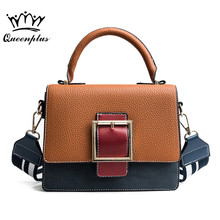 Original brand Women Panelled PU Leather Messenger Bag Fashion Flap Bags Sac A Main Shoulder Bag Women Handbag Bolsas Femininas(China)