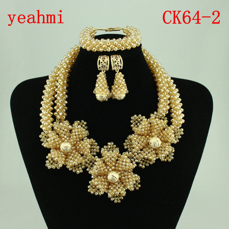 Fashion Women Jewelry Set African Wedding Party Jewelry Sets Nigerian Statement Necklace Sets Free Shipping  CK64-1