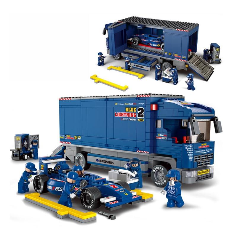 Truck Building Block Set F1 Racing Car Model Figure Building Blocks Figure Classic Brick Education Toys Compatible with Legoe<br><br>Aliexpress