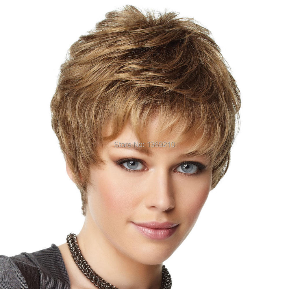 High Quality Chic Short Hair Wigs Brown Color Miracurl Capless Synthetic Hair Wigs About 8 Inches SW0128<br><br>Aliexpress