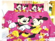 hot Mickey Minnie mouse bedding sets Children's girl bedroom decor single twin size bed sheets quilt duvet covers 3pcs no filler(China)
