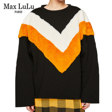 Max LuLu Fashion Brand Clothing 2017 New Autumn Retro Hoodies Sweatshirt Woman Patchwork Harajuku Cotton Loose Tracksuit Womens