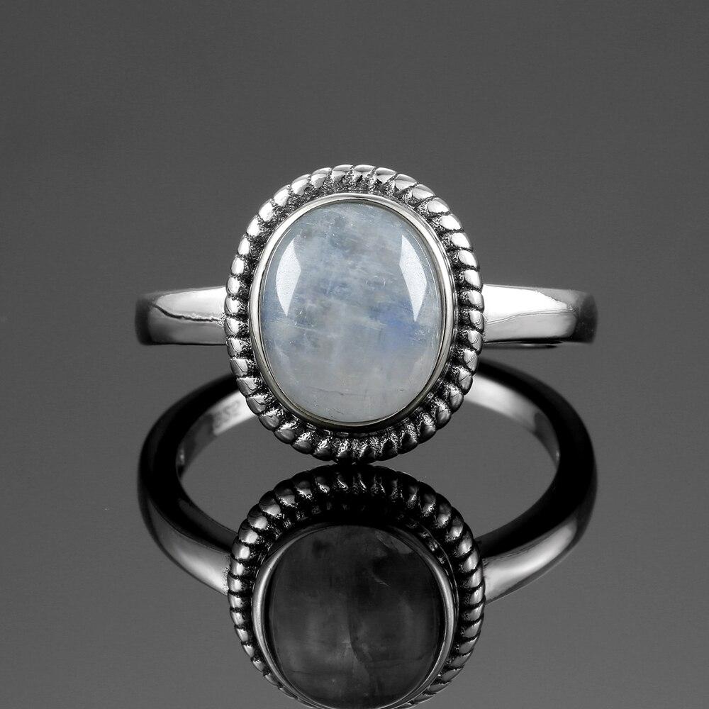 bague de fiancaille pierre de lune argent 925 | oko oko