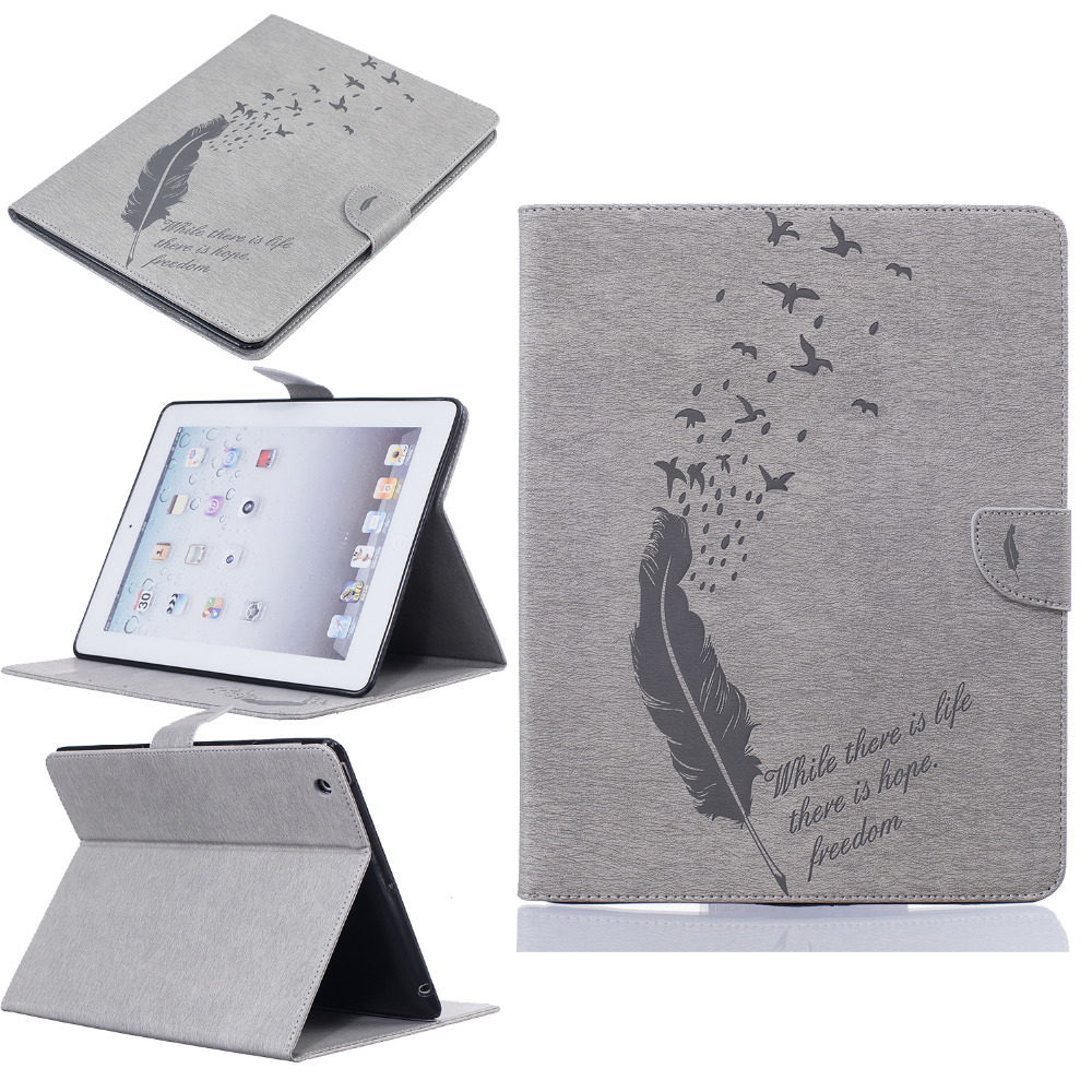 New Arrival Luxury Cute birds butterfly Smart Cases For apple iPad 2 3 Cover Stand Leather Cover For Apple iPad 4 tablet Case<br><br>Aliexpress