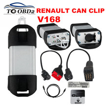 New Released V168 Renault Can Clip Works For Renault Cars Professional Tester Multi-Language CAN CLIP Scanner Express Fast(China)