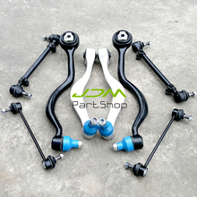 set auto suspension kits control arm/drag link/stabilizer link/tie rod/steering lever/bushing fit forBMW 7 E32 735i 735iL 740i