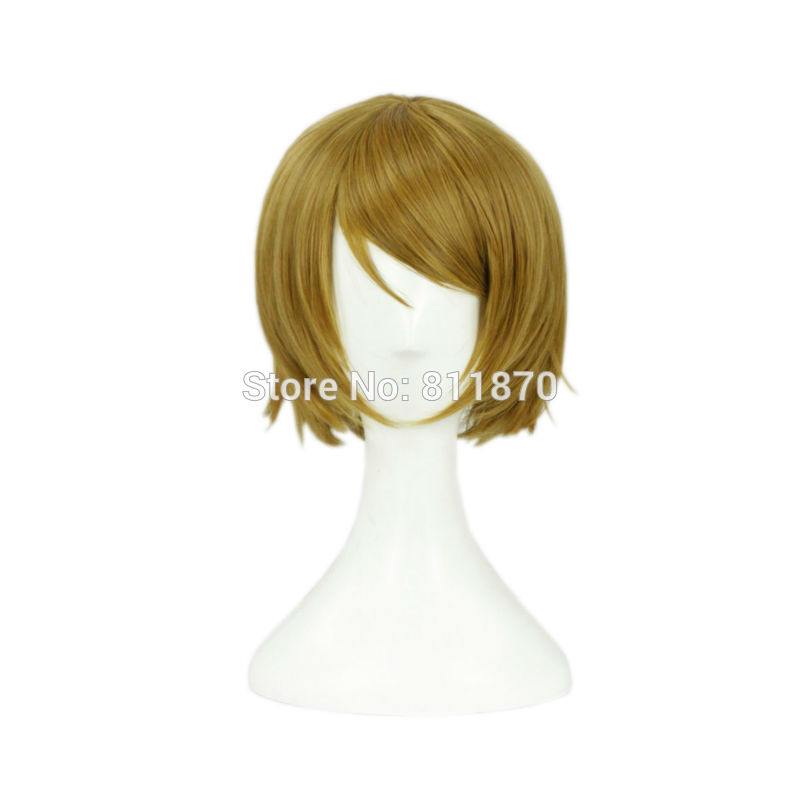 ORZ Love Live! Cosplay Koizumi Hanayo 30cm/11.8 Short Linen Curly Hair  Wig 348I<br><br>Aliexpress