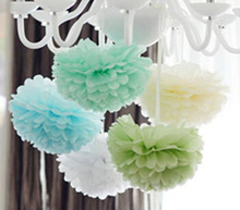 15cm=6 inch Tissue Paper Flowers paper pom poms balls lanterns Party Decor Craft Wedding multi color option whcn+(China)