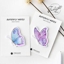 Creative Beautiful Butterfly Self-Adhesive Memo Pad Sticky Notes Post It Bookmark School Office Supply