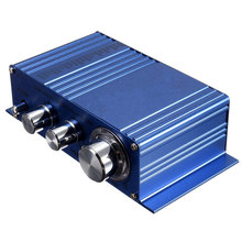 New Arrival Hot Selling Mini 180W + 180W 2CH 12V Small Stereo Audio High Power Car Amplifier for CD MP3