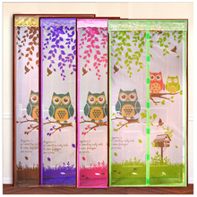 Hight Quality Summer Anti-mosquito Mesh Door Magnet Mosquito Net Curtains Tulle  Soft Screen Door Moustiquaire Porte