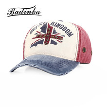Badinka 2017 New Winter Vintage Printed United Kingdom Denim Baseball Cap Fitted Trucker Caps Hats for Women Men Gorras(China)