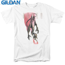 Tee Shirt Sites Gildan Men'S Short Sleeve Graphic O-Neck Alien Movie Face Off Licensed Tees(China)