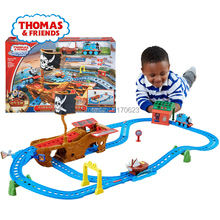 Authentic electric Thomas train track lost treasure sailing orbit CDV11 boy toys for children's best Christmas gift Kids Toys