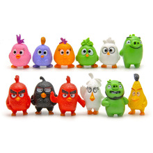 2017 New 12 big red bird green pig Action Figure Classic scene toys Play house doll Lovely cartoon version Miniature Model(China)
