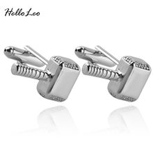 Thor Mjolnir Hammer Metal Cuff Links button Marvel Avengers Comics Superhero Man luxury cufflinks Shirt Cufflink For Unisex(China)
