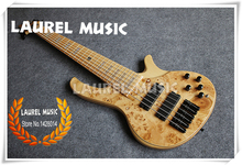 Hot Selling Dead Wood  Electric Bass Guitar Black Hardware China 6 String Solid Body For Sale Include Shipping