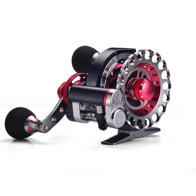 Automatic wire spread 10+1 BB Aluminum Alloy CNC Spool Left/Right Hand Fly Reel Ice Fishing Reel Raft Reel<br>