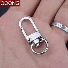 QOONG 10 Pieces Classic Men All-match Keychain Wait Hanged Key Chain Spring Buckle Key Ring Metal Car Keyring Key Accessories(China)