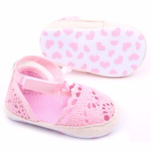 High Quality Baby Kids Girls Cotton Frework Bowknot Infant Soft Sole Baby First Walker Toddler Shoes