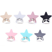 UVR 360 Degree Five-pointed star Metal Finger Ring Smartphone Stand Holder mobile phone holder stand For iPhone Xiaomi all Phone