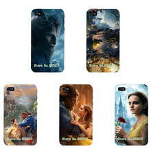 Top Movie Design Beauty And the Beast Phone Case Skin Cover White Hard Case Cover For IPHONE4 4S Case