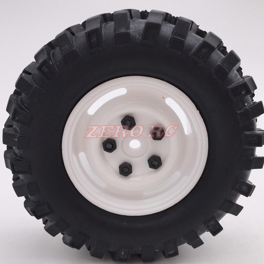 "4X Heavy Duty Beadlock 1.9/"" wheel rims 108mm tyre Tire For 1//10 RC D90 SCX10"