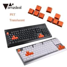 amzdeal 9pcs PBT Backlit Translucent Keycaps Smooth For Cherry MX Mechanical Keyboard(China)