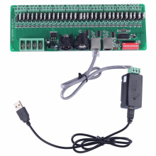 USB master DMX controller+30 channel DMX decoder for software editors to RGB LED lights input DC9-24V(China)