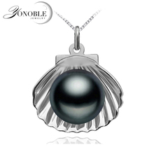 Black freshwater Natural pearl pendant 925 sterling silver pendant with pearl jewelry girl trendy birthday gift necklace 45cm