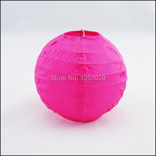 "Free shipping 10pcs 20cm(8"") Hot Pink Cheap Chinese Paper Lantern Round Wedding Lantern Birthday Party Decorations Kids"