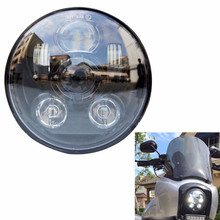 "Moto Chrome 5-3/4"" 5.75 Inch Daymaker Projector LED Headlight for Davidson Harley Sportster Dyna XL 883 1200 48 2004UP Parts"