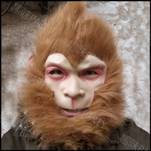 2016 hot sell mythology big ears monkey mask gorilla costumes to the West Monkey King Sun Wukong Halloween Mask(China)