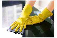 100pcs/lot Dishwashing latex gloves Household waterproof laundry housework gloves Factory direct wholesale(China)