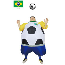 JYZCOS Inflatable Football Soccer Costumes for Adults Mascot Party Fancy Halloween Blow Up Dress Carnival Purim Fat Ball Suit(China)