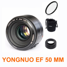 YONGNUO YN50mm f1.8 YN 50mm AF Lens YN50 Auto Focus lens + hood +UV len + bag for Canon EOS DSLR Cameras(China)
